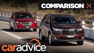 Download Comparison: 2017 Mazda CX-9 v Toyota Kluger (Highlander)   CarAdvice Video