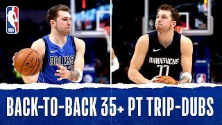 Download Luka Becomes Youngest IN HISTORY With Back-To-Back 35+ PT Triple-Doubles Video