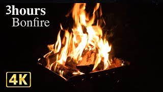 Download 4K 焚き火BGM動画でくつろぎの3時間【安眠・癒し・作業用BGM】 Video