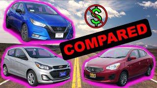 Download 2020 Nissan Versa vs 2020 Chevy Spark vs 2020 Mitsubishi Mirage   Cheapest New Cars in America! Video