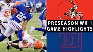 Download Browns vs. Giants Highlights | NFL 2018 Preseason Week 1 Video