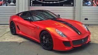 Download Ferrari 599 GTO Wrapped Satin Chrome Red! Video