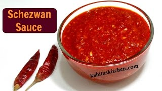 Download Schezwan Sauce Recipe | Homemade Schezwan Sauce | Chinese Sauce | kabitaskitchen Video