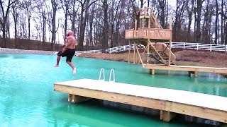 Download JUMPING INTO ICE WATER!! ouch!! Video