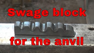 Download Forging a swage block for the anvil - blacksmithing tools Video