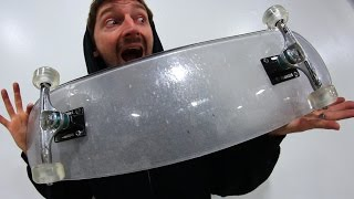 Download BULLET PROOF GLASS BOARD WITH CLEAR ACRYLIC WHEELS | YOU MAKE IT WE SKATE IT EP 84 Video