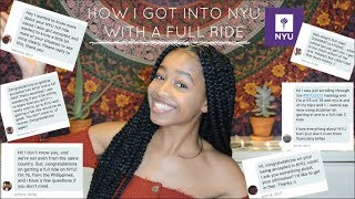 Download HOW I GOT INTO NYU WITH A FULL RIDE   Q&A/Advice Video