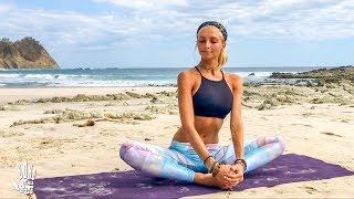 Download Yoga For Beginners ♥ Easy Stretch & Stress Release | Playa Barrigona Video