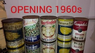 Download 55 Year Old Canned Foods, Opening decades-old Canned Foods 3 Video