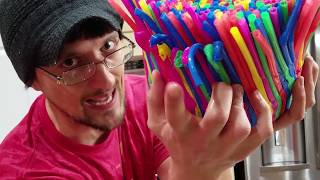 Download DIY Baby Chair of Straws! (FUNnel Vision Gets Soggy Vlog) Video