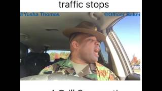 Download When a Police Officer traffic stops a Drill Sergeant! W/ Yusha Thomas Video