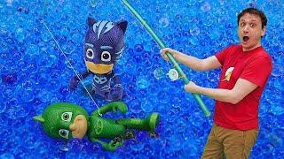 Download Giochi per bambini. PJ Masks Super Pigiamini vanno a pesca. Giocattoli dei cartoni animati Video