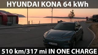 Download Hyundai Kona driving 510 km/318 mi in one charge Video