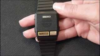 Download Vintage Seiko A966 series Talking watch review, manual Video