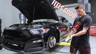 Download Mustang GT gets LOW & STIFF! (Full Roush kit!) Video
