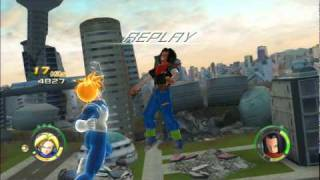 Download Dragon Ball Raging Blast 2 Trunks(Fighting Teen) vs Android #18, Android #17, Cell Video