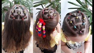 Download Penteado Infantil com ligas em forma de coração para cabelo solto ou com amarração Video