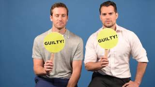 """Download Henry Cavill & Armie Hammer Play A Game Of """"Never Have I Ever"""" Video"""