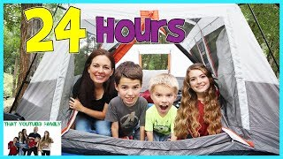 Download 24 Hours Overnight In A Tent / That YouTub3 Family Video