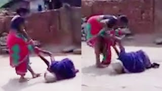 Download Video of Odisha woman dragging her mother-in-law on road goes viral Video