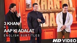 Download Shah Rukh KHAN, Salman KHAN & Aamir KHAN - 21 Years Of AAP KI ADALAT (English Subs) Video