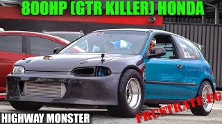Download 800HP TURBO CIVIC (GTR KILLER) TAKES OVER THE HIGHWAY - FRUSTRATE EG Video