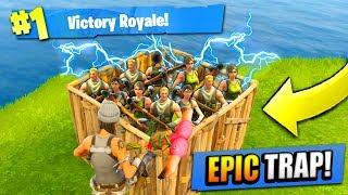 Download EPIC 50 vs 50 TRAP in Fortnite: Battle Royale! Video