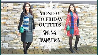 Download MONDAY TO FRIDAY WORK OUTFITS | SPRING TRANSITION Video