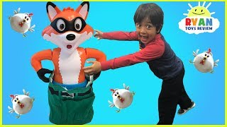 Download Catch the Fox Family Fun Board Games for kids and Eggs Surprise Toys for winner! Video