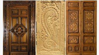 Latest wooden main door for modern homes,teak wood door collection