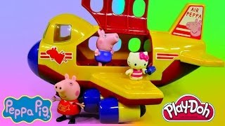 Download Peppa Pig's Jumbo Jet Flying Adventure Play Doh Hello Kitty Muddy Puddle Kids Toys Video