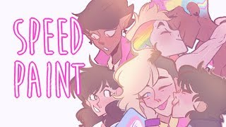 Download 🏳️‍🌈Pride - Character Lineup - OC's 🏳️‍🌈(SPEEDPAINT)🏳️‍🌈 Video