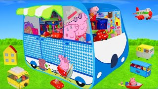 Download Peppa Pig Unboxing: Camper Play Tent Surprise, Toy Vehicles, George, Ambulance & Toys for Kids Video