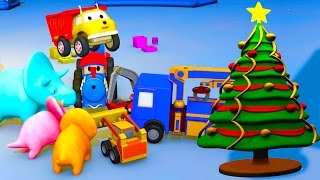 Download Unwrapping Christmas presents: learn colors with Ethan the Dump Truck, Dino, Ted and the Tiny Trucks Video