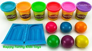 Download Learn Colors and Making Ice Cream Popsicle with Play Doh Balls Surprise Toys Shopkins Mini Packs Video