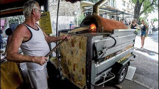 Download France Street Food. The ″Socca″ Pancake of Chickpea Flour from Nice Video