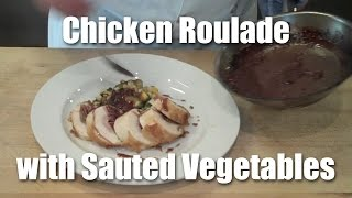 Download Chicken Roulade - The Completed Dish Video