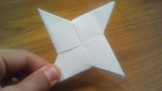 Download How To Make a Paper Ninja Star (Shuriken) - Origami Video