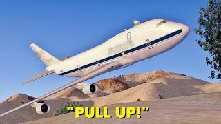 Download Boeing 747 CRASHES in the Desert (Multiple Times) - FSX Multiplayer Chaos Video