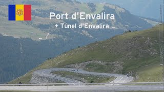 Download [AND] Highest mountain pass in the Pyrenees (2,408 m) - Port d'Envalira + Túnel d'Envalira Video
