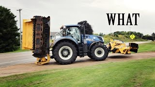 Download Big Blue Tractor Pulls in the Driveway! Video