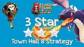 Download Clash of Clans TH8 Dragon 3 Star Best Clan Wars Attack Strategy Video