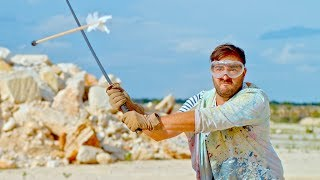 Download Slicing an Arrow in Half Mid-Air in Slow Motion - The Slow Mo Guys Video