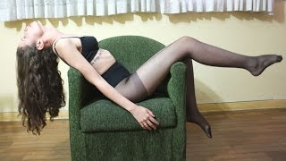 Download Sexy girl wearing pantyhose, stockings Video