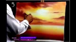 Download Yağlı Boya Resim - Gün Batımı Deniz manzarası part-1 Video