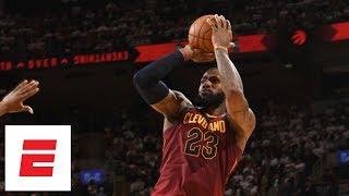 Download LeBron James hits 6 ridiculous 4th-quarter fadeaways as he dismantles Raptors in Game 2 | ESPN Video