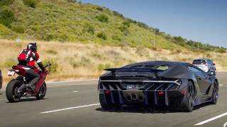 Download Lamborghini Centenario and Pagani Huayra run with Ducati 899 Video