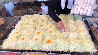 Download japanese street food - okonomiyaki Video