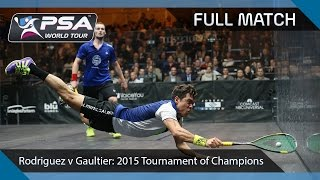 Download Squash: Full Match - 2015 Tournament of Champions - Rodriguez v Gaultier Video