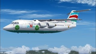 Download La Mia flight 2933 The final Chapecoense flight (FS2004) Video